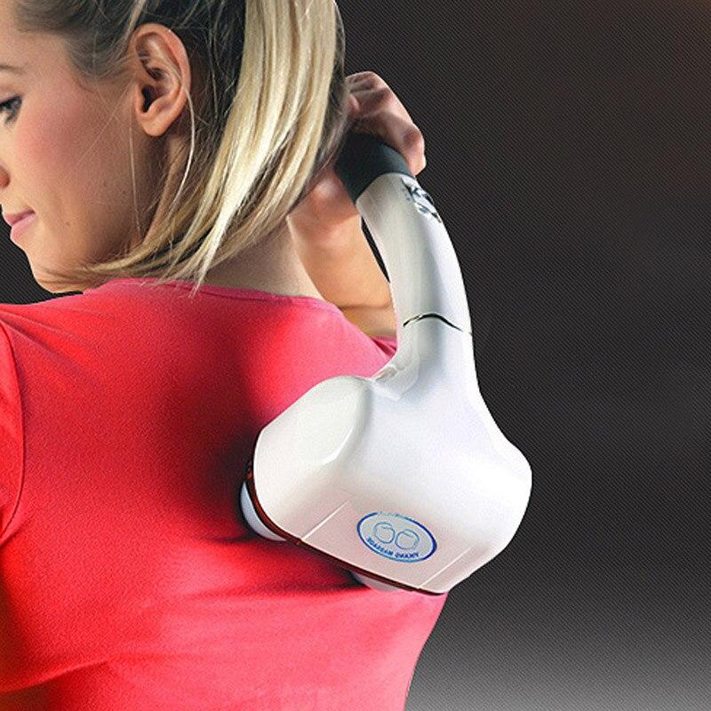 Infrared Electric Massager Waist neck massage hammer Vibration body massage stick Roller Cervical vertebra massager device
