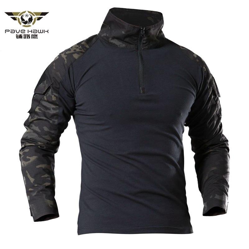 Camiseta táctica para hombres, camiseta de ejército de camuflaje, EE. UU., soldados RU, combate, fuerza militar, Camuflaje Multicam, camisetas de manga larga, tamaño S-4XL