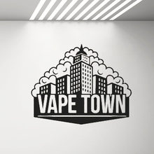 Vape Winkel Decal Waterpijp Rook Shop Wall Decor Stickers Lounge Cafe Bar Decoratie Behang Verwijderbare Vinyl Decals Poster G343(China)