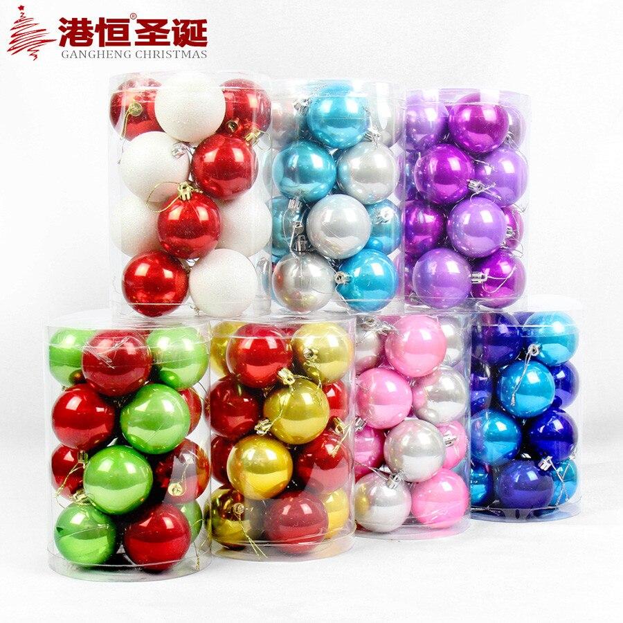 Christmas Tree Ball Colors : Aliexpress buy pcs christmas tree ornaments
