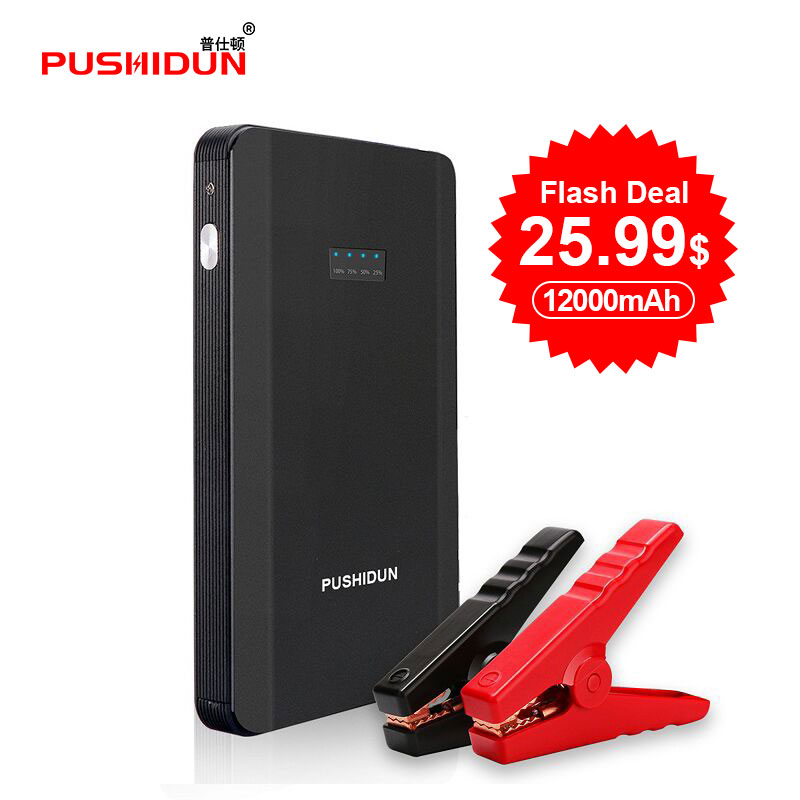 Pushidun K23S Auto Starthilfe Power Bank 12000 mah 400A Booster Auto Batterie Starter für Auto