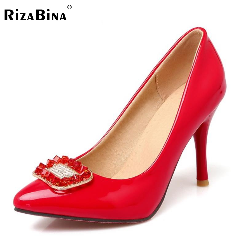 Size 32-43 Ladies High Heel Shoes women Pointed Toe Thin Heeled Wedding Bowtie Shoes Patent Leather Slip-On Sexy Fashion Pumps p23128 women patent leather thin heel pumps elegant pointed head stiletto fashion simple style ladies heeled shoes size 33 42