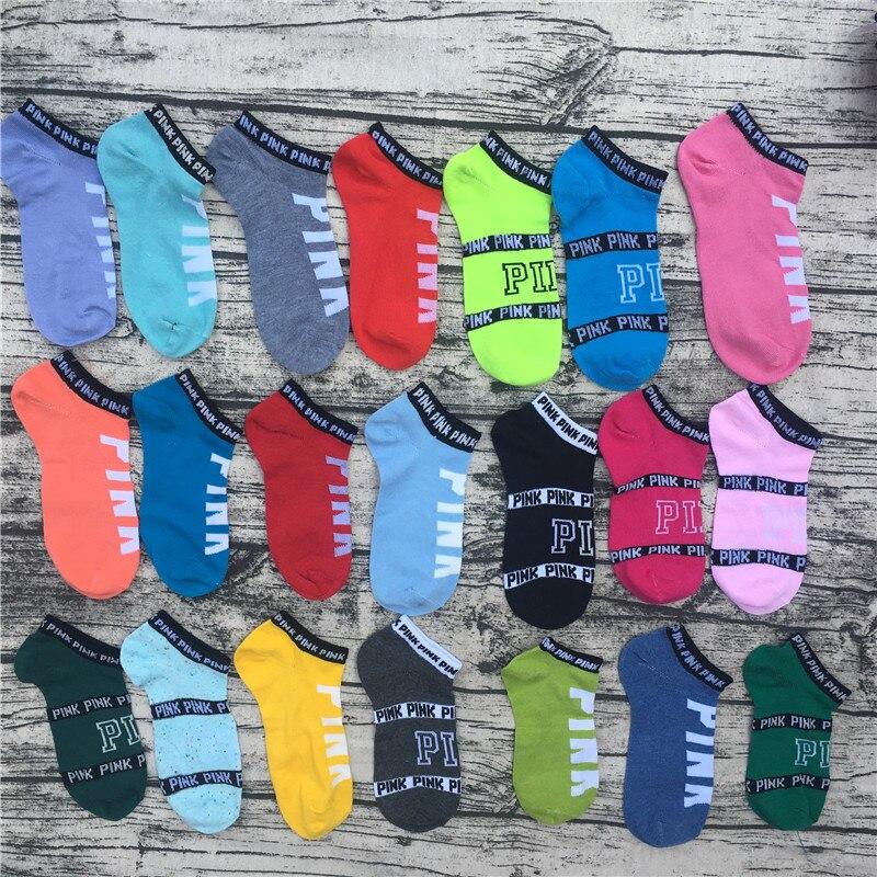 Rosa al por mayor color de la mezcla al azar (no puede elegir) vs amor Rosa letras calcetines para fútbol deporte
