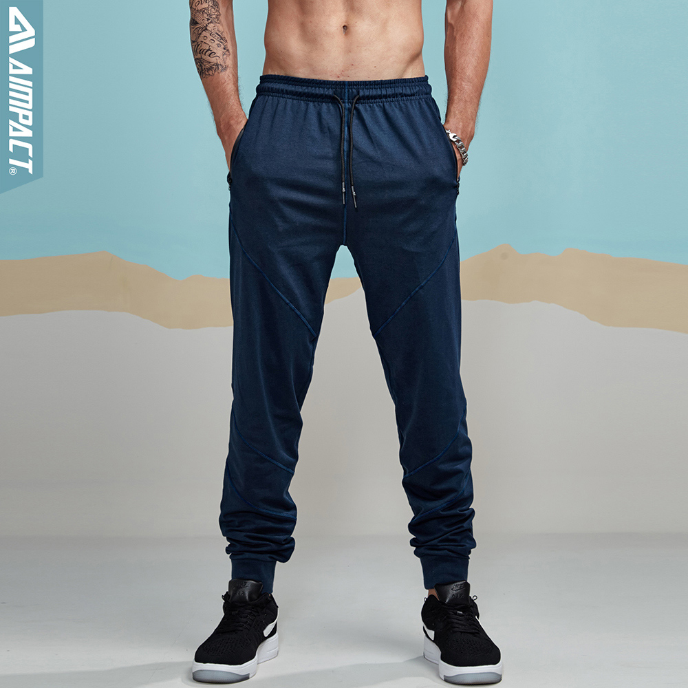 Aimpact Causal Pants For Men Lightweight Joggers Fitted Active Sweatpant City Sporty Track Pants Tracksuit Running Trousers Male