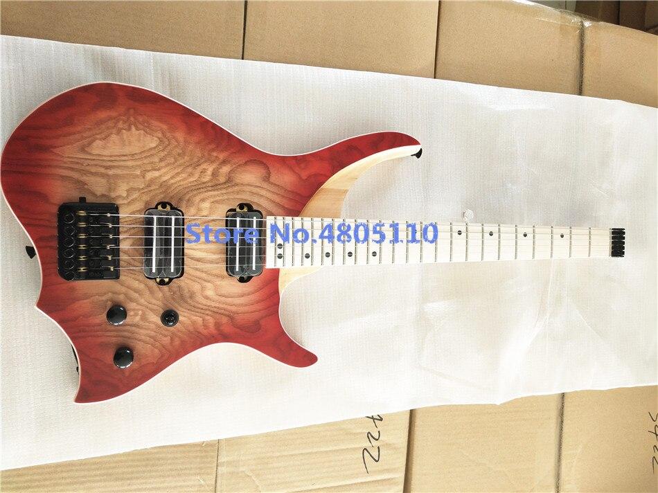La nouvelle version personnalisée de firehawk de haute qualité de guitare électrique sans tête de saule peut être personnalisée et modifiée selon