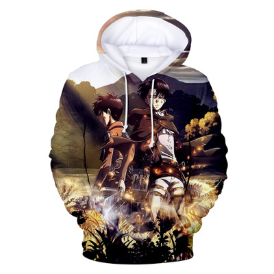 Image 4 - Anime Attack On Titan 3D Digital Print casual Sweater Pocket Hooded Sweatshirt Big Pockets Hoodie Sweatshirt Long Sleeve coat-in Anime Costumes from Novelty & Special Use
