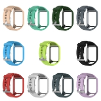 OOTDTY Silicone Replacement Wrist Band Strap For TomTom Runner 2 3 Spark 3 GPS Watch
