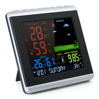 Wireless Weather Station Indoor Outdoor Color LCD Weather Forecast Digital Thermometer Hygrometer Temperature Humidity Meter