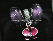 925 Sterling Silver Charm & Murano Glass Bead Sets with Box Fit European Jewelry Bracelets & Necklaces-SU027