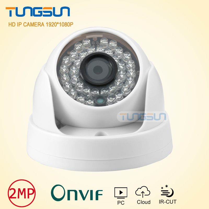New HD 1080P IP Camera 36 LED Onvif Network white Indoor Dome Surveillance Camera P2P Android iPhone CCTV 2mp Security Camera zea afs011 600tvl hd cctv surveillance camera w 36 ir led white pal