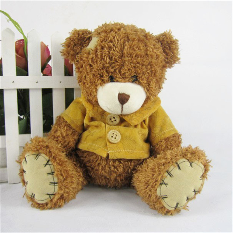 The new arrival hot dress stuffed teddy bear doll Sit plush dolls bears direct manufacturers wholesale for kids toys hot sale 12cm foreign chavo genuine peluche plush toys character mini humanoid dolls