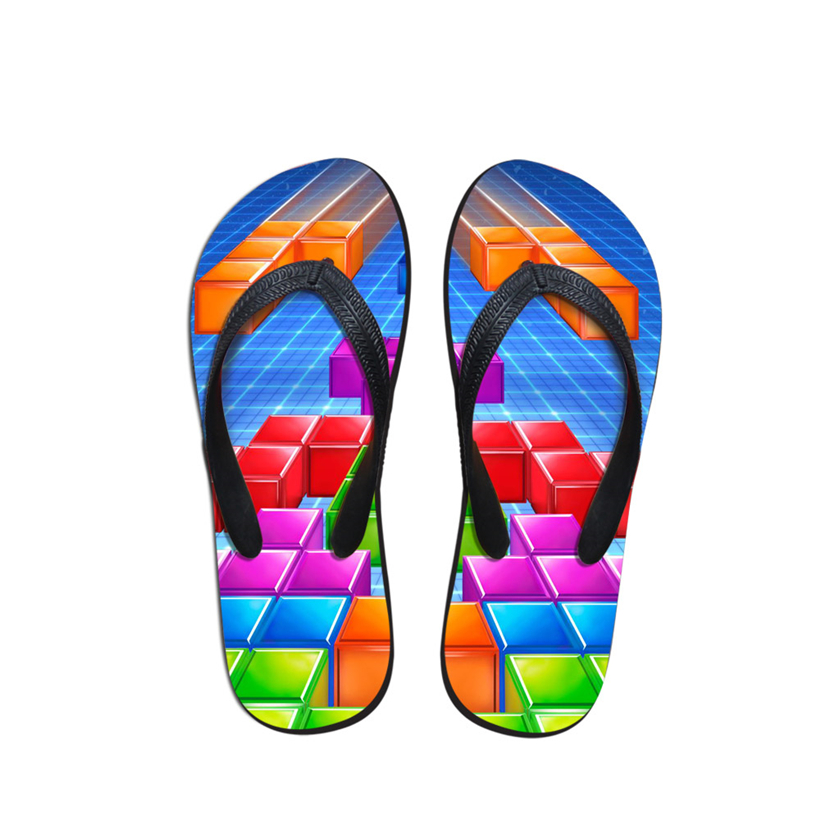 2019 Fashion Summer Male Soft Beach Flip Flops Slippers Man Shoes Printed Unisex Funny Hawaiian Sandals Erkek Ayakkab Chinelos