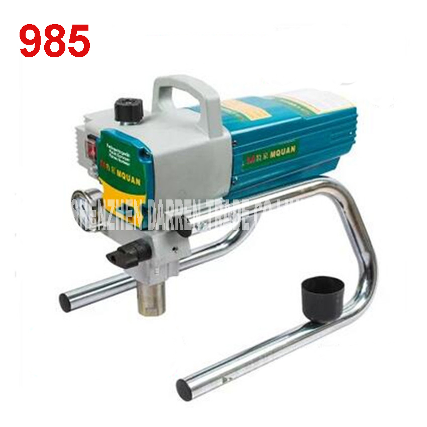985  220V  Professional Airless Spray Gun electric Airless Paint Sprayer machine with 50cm extend pole  2.4L/min