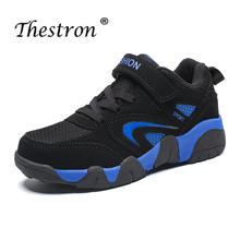 2018 Children Boys Girl Shoes Blue Jogging Boy Comfortable Sport Wearable Athletic Sneakers