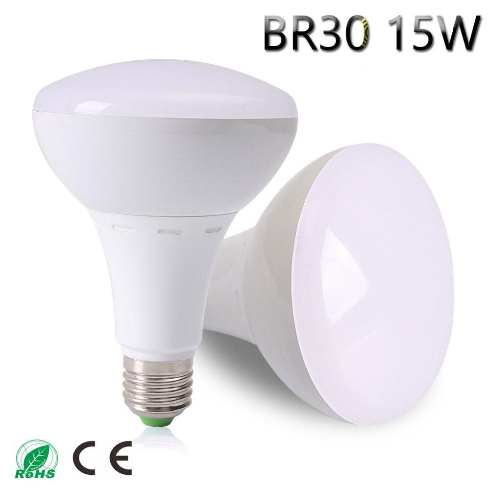 NEW BR30 LED Lamp AC85-265V LED Light 15W 11LEDs Lampada LED Bulb Christmas Chandelier Lights High Bright Free shipping