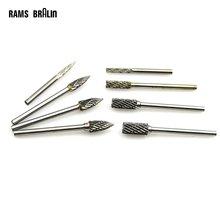 Диаметр 3 мм до 6 вольфрамовые карбидные вращающиеся заусенцы