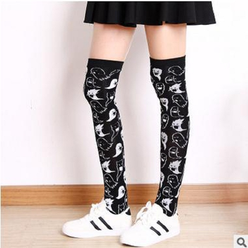 Sexy Stockings Limited New Arrival Stocking Knee High Socks 2018 Fashion Trend Of Knee Cotton Personality Slender Female Socks
