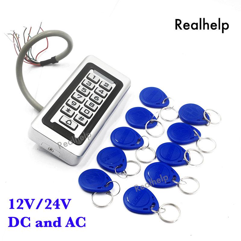 Vodotěsný venkovní krytí IP68 Používejte kovovou nerezovou čtečku 2000Users Zabezpečení vstupu a výstupu WG RF Access Control Keypad