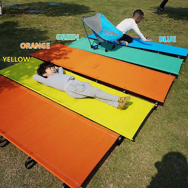 Outdoor Ultralight Folding March Car Bed Unflattering Casual Aluminum Alloy Frame Portable Hiking Camping Bench Mat