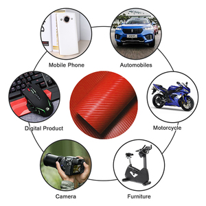 Image 3 - LuDuo 30x127 cm 3D Carbon Faser Vinyl Farbe Wrap Band Self Adhesive Auto Aufkleber Aufkleber Rolle Film Styling auto Zubehör 4 Farben