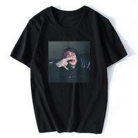 LIL PEEP футболка черно-белая футболка с принтом юрни крутая футболка xxxtentacion брендовые футболки с принтом цвета Harajuku Мужская футболка