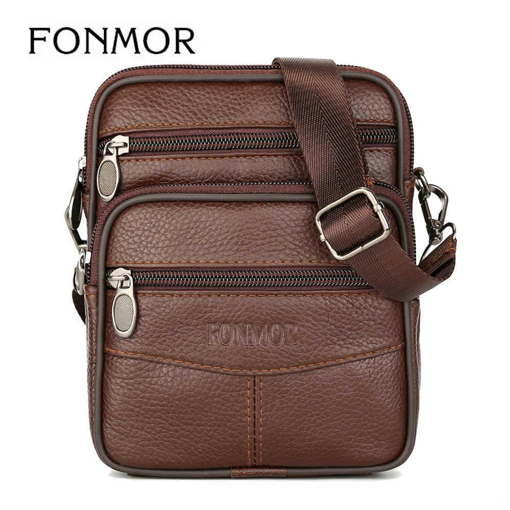 6fa5159fd83 Small Bags Genuine Leather Messenger Bags For Men Vintage Mini Mobile Cell  Phone Case Crossbody Bag