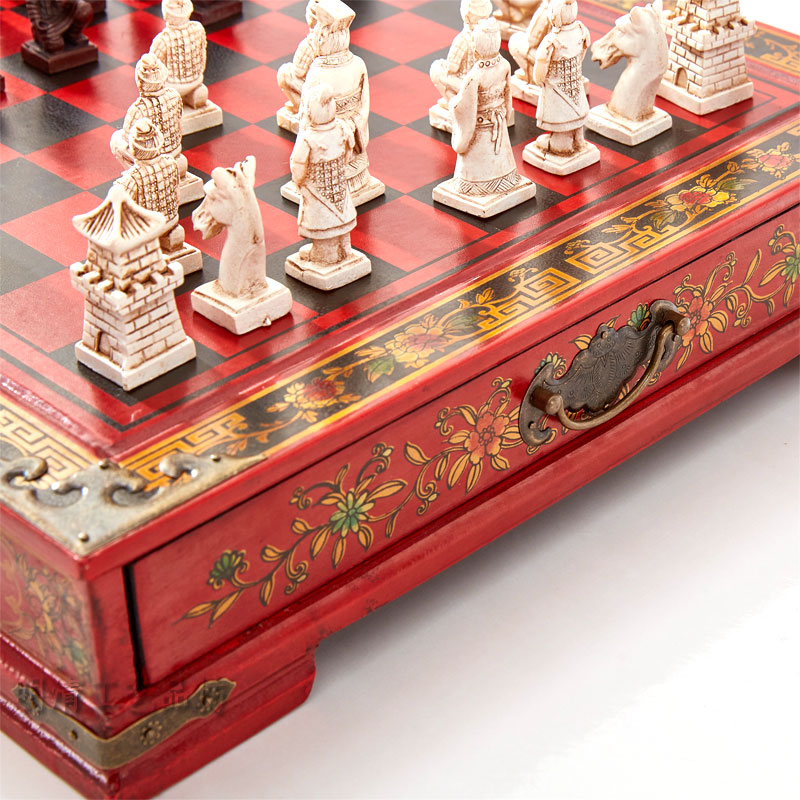 Archaistic Chinese Chess Set Terra