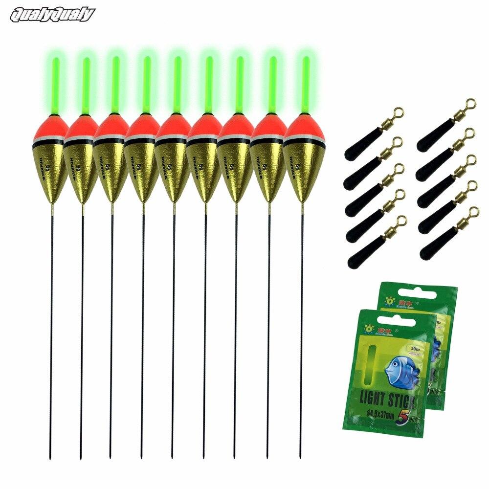 10 шт 6g паплаўкоў + 10Pcs Рыбалка Glow Sticks - Рыбная лоўля