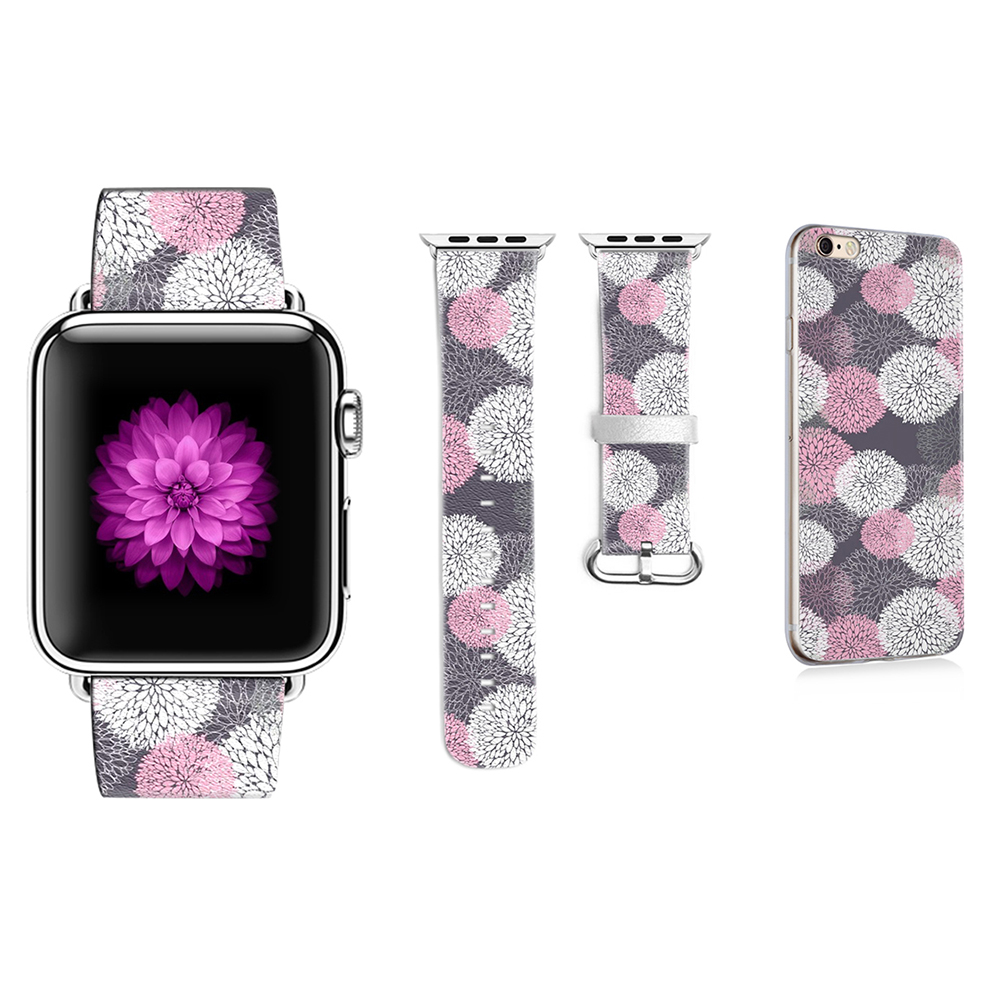 Leather Fireworks Pattern Strap DiY for Apple Watch Band 38mm 40mm 42mm 44mm Bracelet for iWatch 1 2 3 4 Gift for IPhone CaseLeather Fireworks Pattern Strap DiY for Apple Watch Band 38mm 40mm 42mm 44mm Bracelet for iWatch 1 2 3 4 Gift for IPhone Case