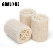 2Pcs/Set Loofah Bath Sponge with Lanyard 4inch Natural Loofah Sponge Scrubber Bath Sponge for Body Cleaning Bathroom Accessories natural loofah sponge bath shower ball with brush white