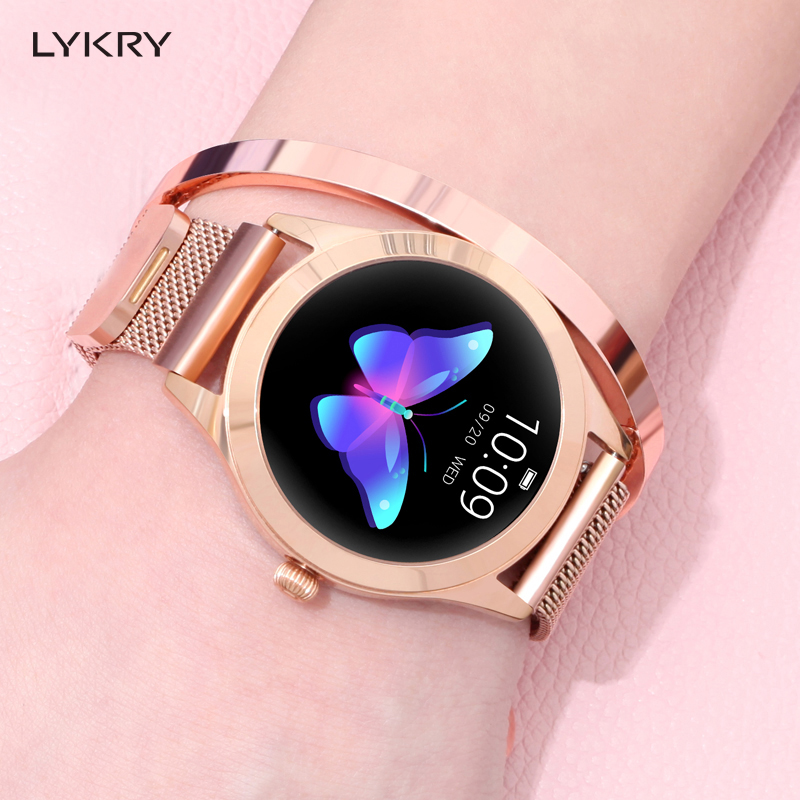 LYKRY KW10 Smart Watch Women 2019 IP68 Waterproof Heart Rate Monitoring Bluetooth For Android IOS Fitness Bracelet SmartwatchLYKRY KW10 Smart Watch Women 2019 IP68 Waterproof Heart Rate Monitoring Bluetooth For Android IOS Fitness Bracelet Smartwatch