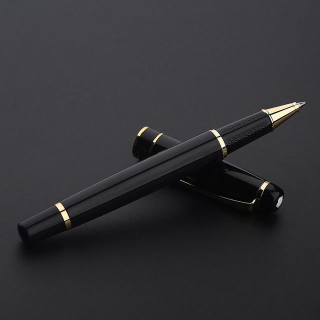 1501 Elegant Upscale Golden Roller Ball Pen Metal ballpoint pen office signature pen