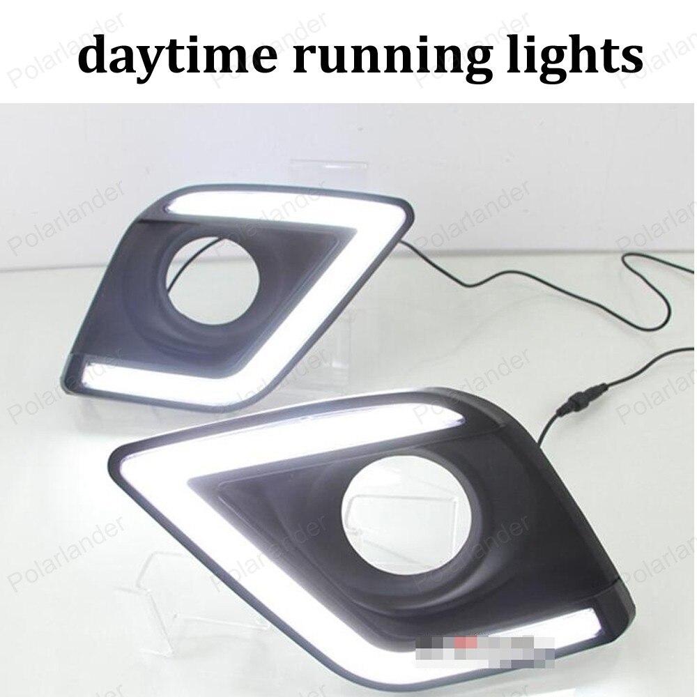 turn signals lamp LED car DRL daytime running lights for T/oyota H/ILUX R/EVO 15 16 front fog light