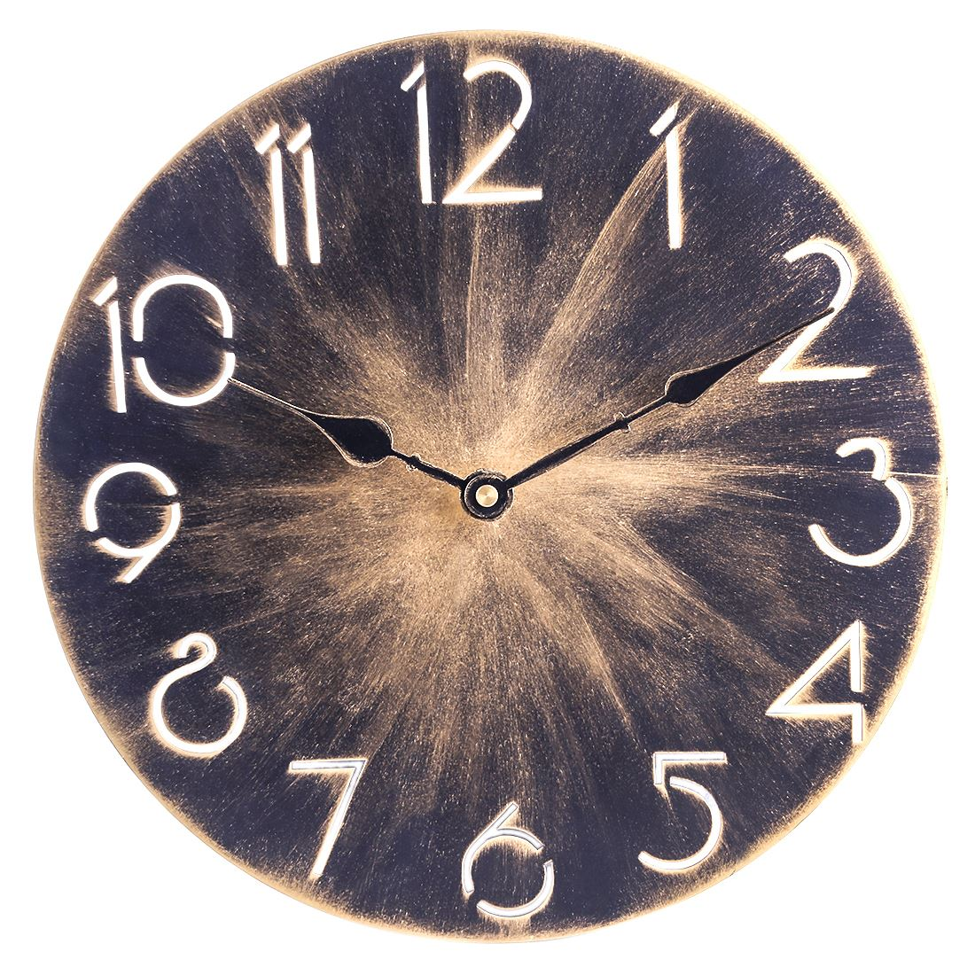 30Cm Iron Art Countryside Silent Beautiful Wall Clocks For Home Decor Large Watch Wall Clock Vintage Modern Design - Retro Color