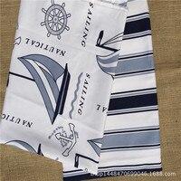 を地中海セーリング綿スラブコットン布ソファクッション厚いマニュアルカーテン生地卸売背