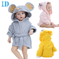 Moda diseños con capucha animal modelado bebé albornoz bebé de la historieta carácter kids bath robe towel toallas de playa infantil ye0001
