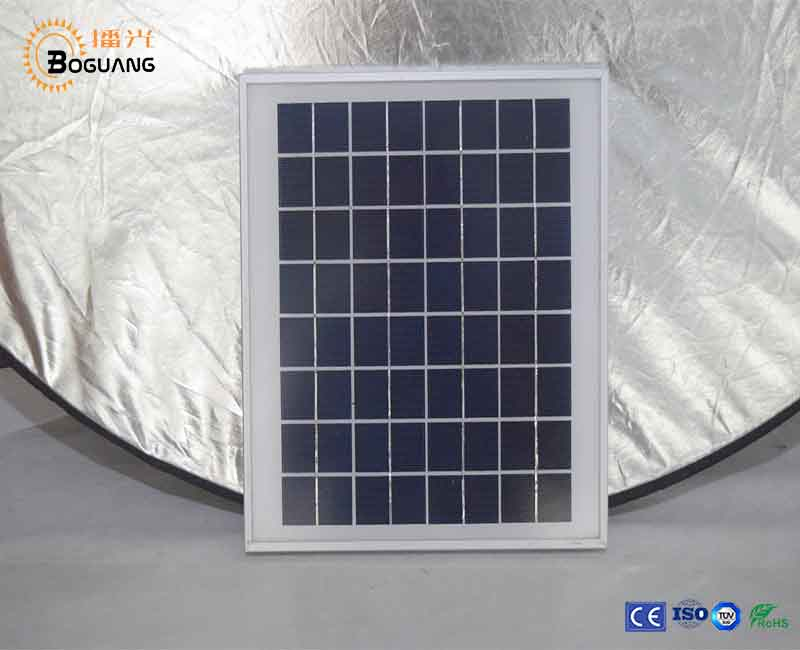 Boguang 2x8W Tempered Glass+EVA+Polycrystalline solar cell+EVA+PET+Alu Frame solar module for Roof outdoor Factory price Retail