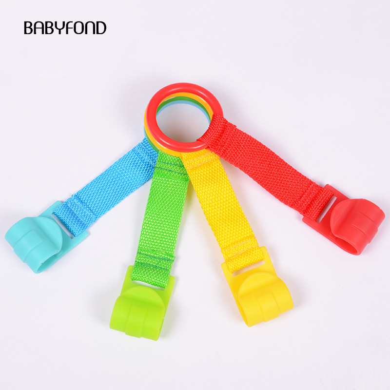 Babyfond 4pcs/lot  Ring For Playpen Baby Crib Hooks General Use Hooks Baby Toys  Bed Rings Hooks  Universal Ring Help Baby Stand