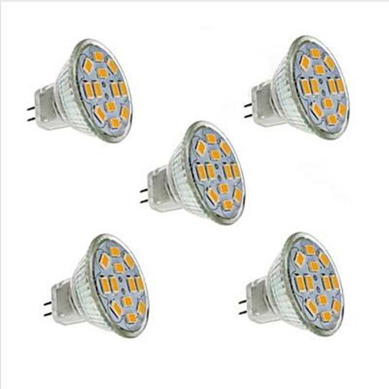 5pcs Spotlight Bulb DC12V MR11/GU4  2w/3w/5w  LED Lamp  Warm White/Cold White For Ceiling Lights/Window Display/Studio Light