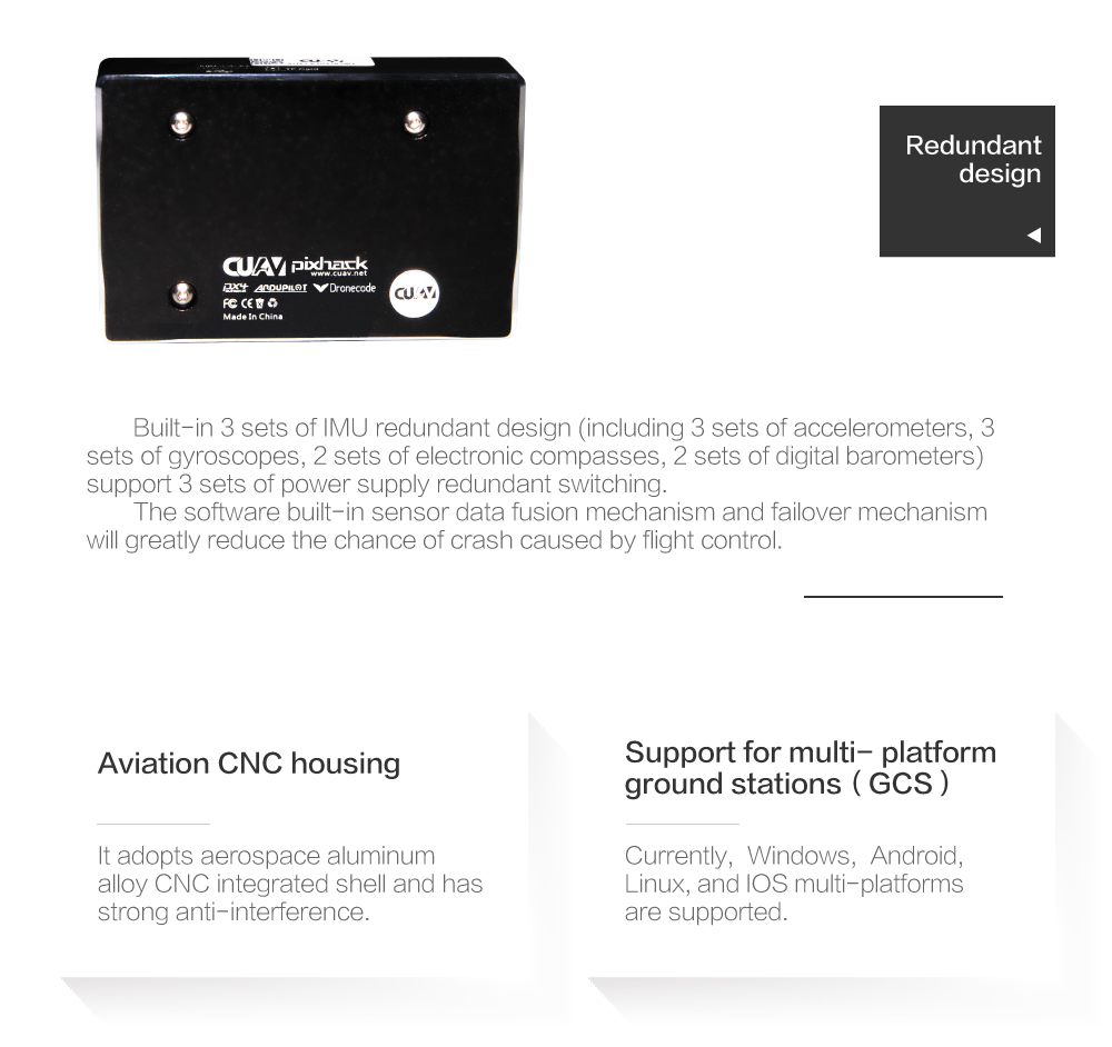 US $189 92 15% OFF|CUAV New Version PIXHACK V3X Autopilot Flight Controller  for FPV RC Quadcopter Helicopter drone parts whole sale drop ship-in Parts