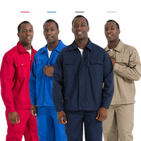 Durable Work Clothing Men Long Sleeve Coveralls Engineer Work Wear Suit Uniform Repairman Welders Protective Safety Clothing