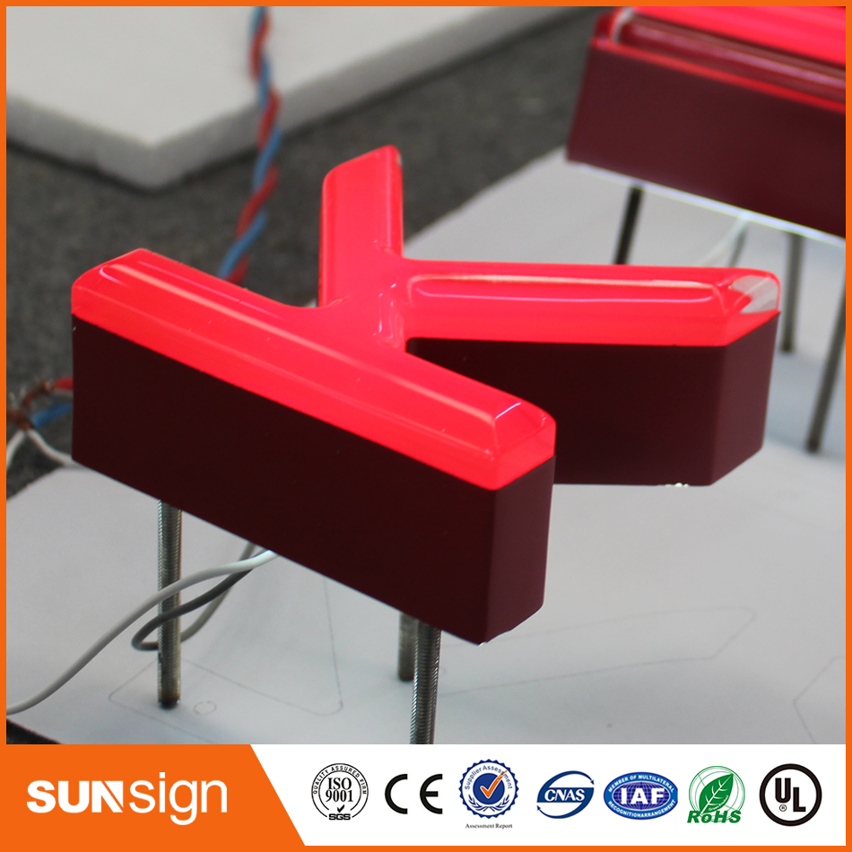 Personalize Outdoor Advertising Waterproof Frontlit Acrylic Led Channel Letters Sign