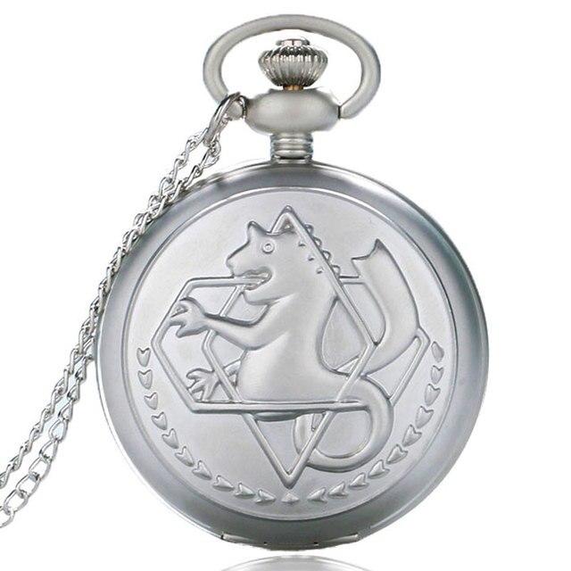 Fullmetal Alchemist Pendant Pocket Watch Edward Elric Cartoon Anime Cosplay Neck