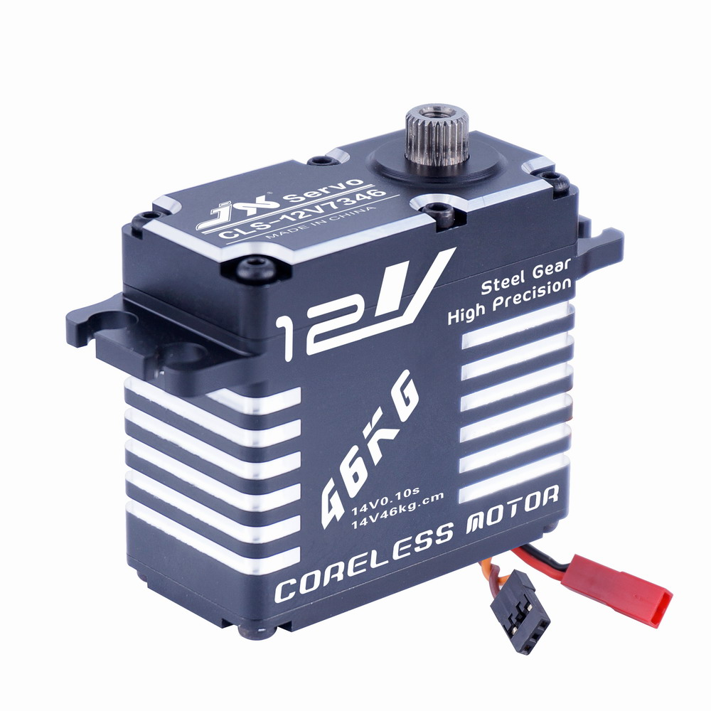 Superior Hobby JX CLS-12V7346 46KG 12V High Precision Steel Gear Full CNC Aluminium Shell Digital Coreless Standard Servo superior hobby jx pdi 6208mg 8kg high precision metal gear digital standard servo