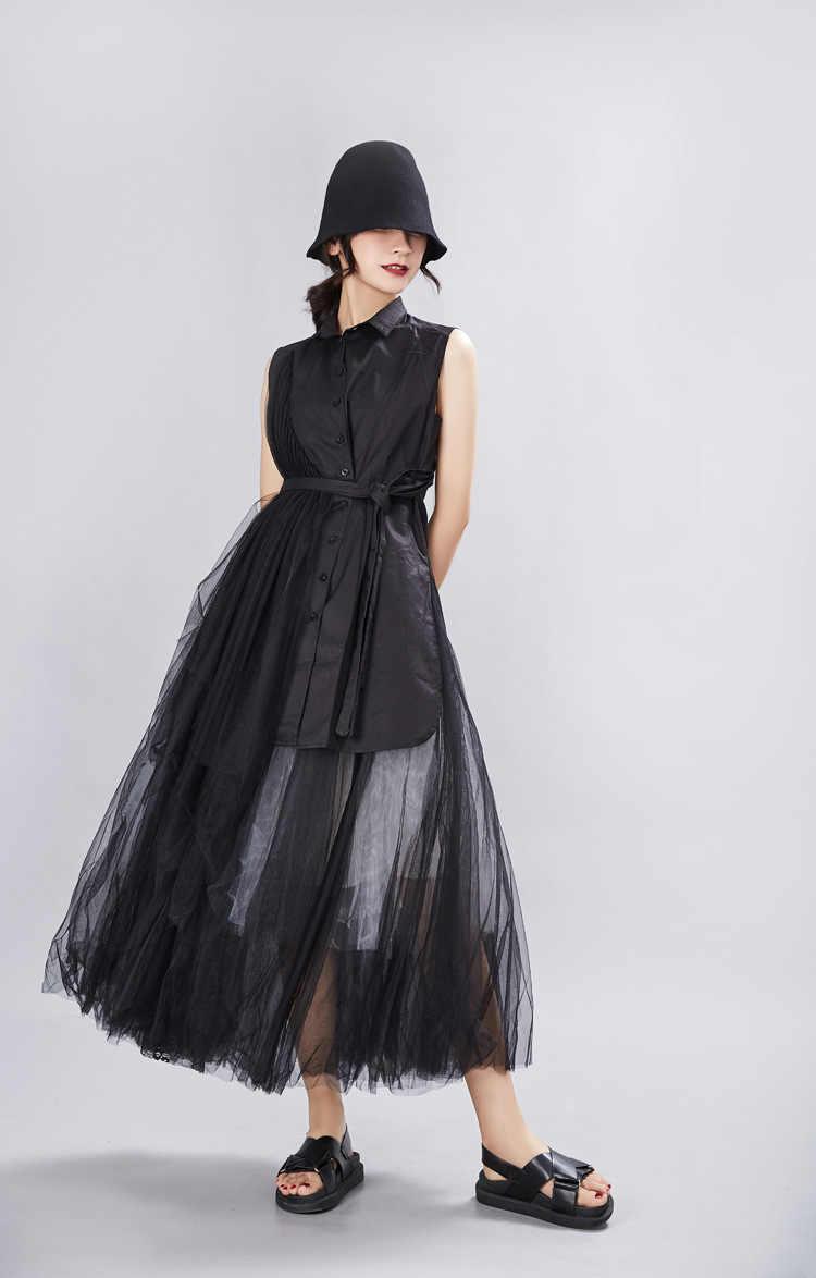 Vadim/ограниченное по времени предложение, короткое хлопковое платье из полиэстера с оборками, новое платье Бесплатная доставка, платья 2019 г., темно-Асимметричная рубашка-жилет