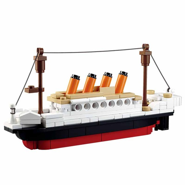 194Pcs Legoings City Small Titanic RMS Boat Ship 3D Model Set 0576 Building Kits Blocks DIY Hobbies Educational Chidren Toy Gift
