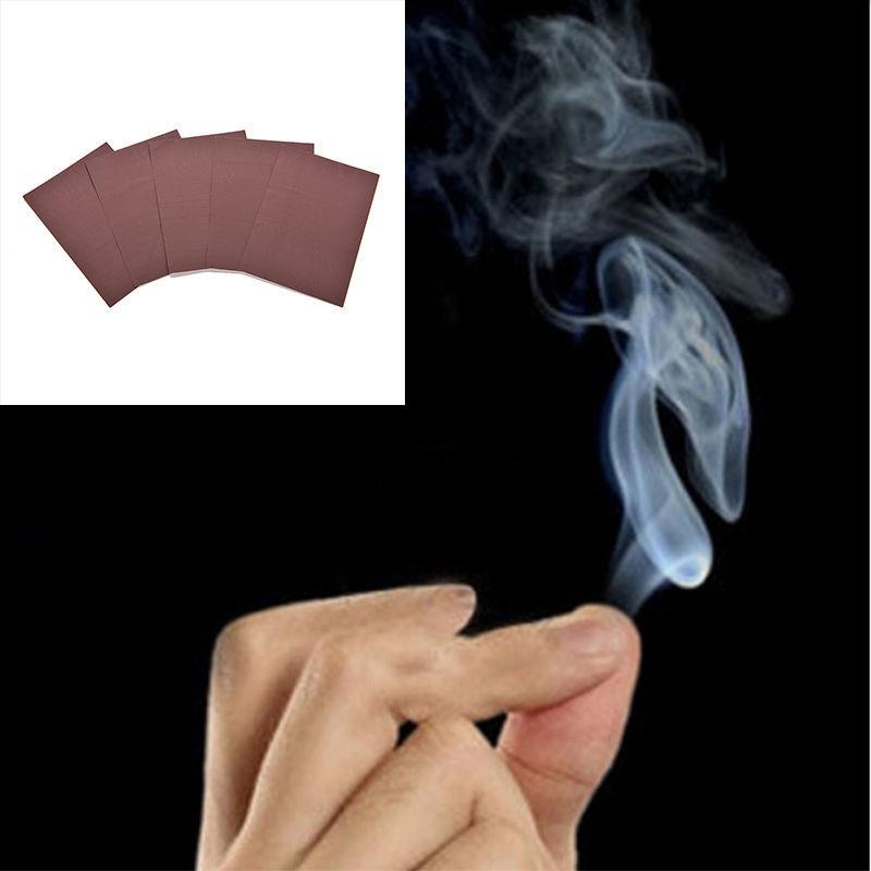 1 pçs truque mágico fuma surpresa brincadeira piada mística diversão mágica fumaça de pontas do dedo 1062