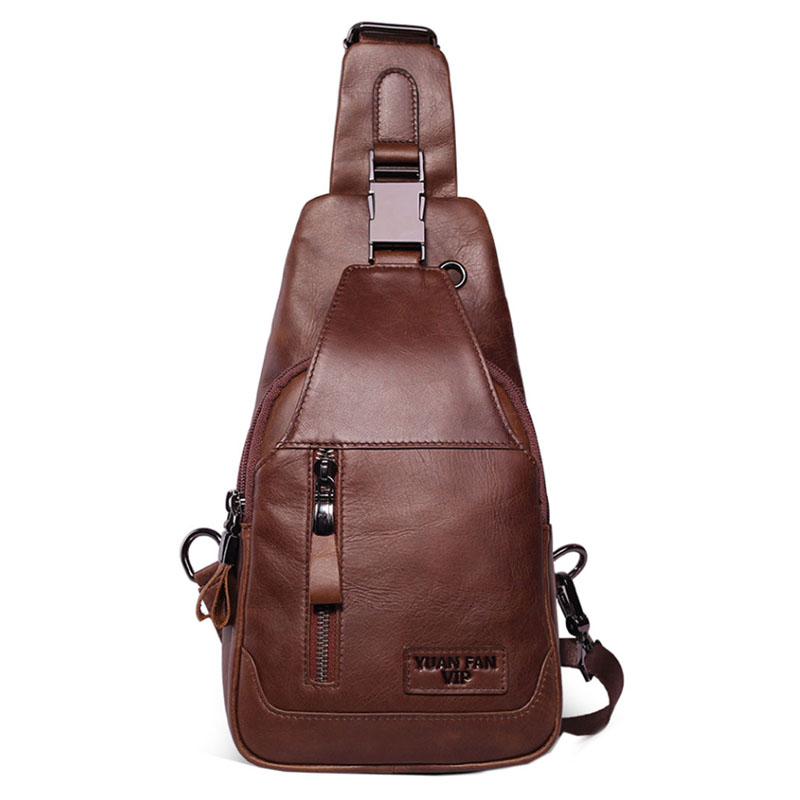 Luggage & Bags New 2019 Men Vintage Genuine Leather First Layer Cowhide Sling Chest Back Pack Travel Riding Cross Body Messenger Shoulder Bag