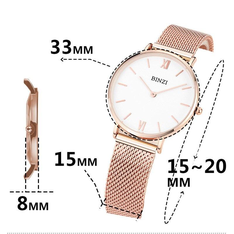 Карнавал ультра тонкие 6 мм миланские кварцевые женские часы TopBrand Роскошные сапфировые кристаллы минималистичный дизайн модные relogio feminino - 5
