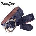 Verano estilo mujeres correa de cuero genuina nueva moda pin floral de la correa femenina de la vendimia de metal jeans cinturones anchos para las mujeres de piel de vaca
